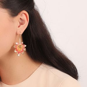LISE boucles d'oreilles crochet mini strass