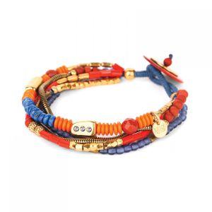 LIVIA bracelet fermoir bouton bois