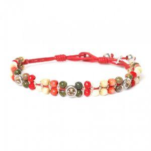 JANNA bracelet perles et strass fermoir bouton