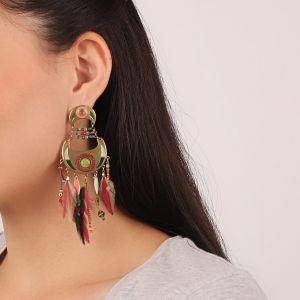 FLO boucles d'oreilles multipampilles (vert)
