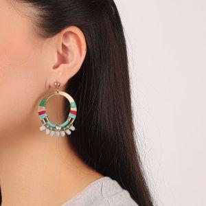 FLO boucles d'oreilles gitanes (vert)