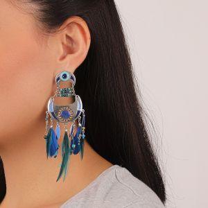 FLO boucles d'oreilles multipampilles (bleu)