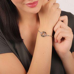 DANNIE bracelet anneau fermoir tube