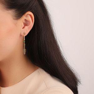 LEELOU boucles d'oreilles fines petites feuilles