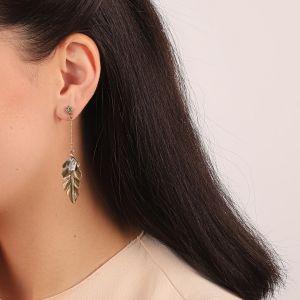 LEELOU boucles d'oreilles grandes feuilles