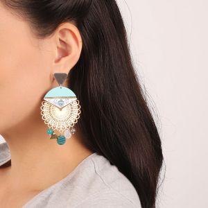 MELISSA boucles d'oreilles triangle & multistrass