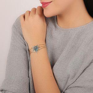 JULIETTE bracelet feuille 3 chaines