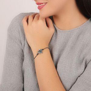 JULIETTE bracelet cordon feuille