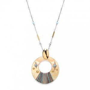 LAUREN collier pendentif Nacre dorée