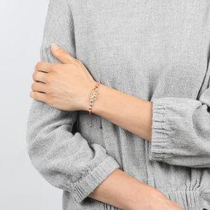 ELSA bracelet macramé avec plume émaillée