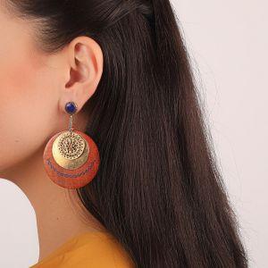 LIVIA boucles d'oreilles mini strass & multi disques