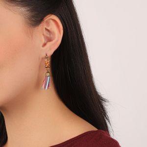 KORALIE boucles d'oreilles pompon