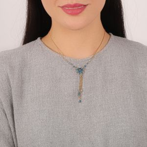 "<span class=""collection_name"">Juliette</span>Collier feuille 3 chaines"