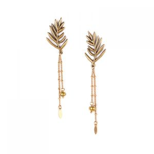 "<span class=""collection_name"">Leelou</span>Boucles d'oreilles 2 chaines"