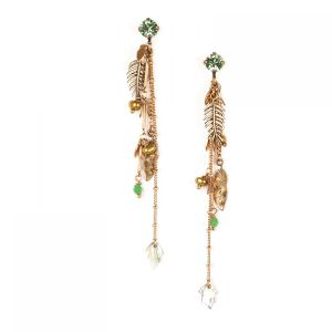 "<span class=""collection_name"">Leelou</span>Boucles d'oreilles 3 chaines & strass"