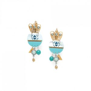 "<span class=""collection_name"">Melissa</span>Boucles dormeuses 3 strass"