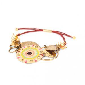 KORALIE bracelet multi disques fermoir tube