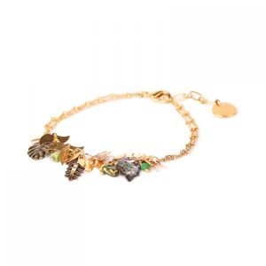 LEELOU multi-dangle chain bracelet