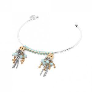 MELISSA bracelet rigide 2 pompons