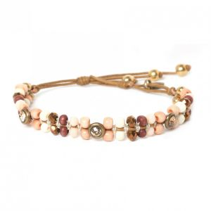 COMPLICES-NINA  strass button lock bracelet