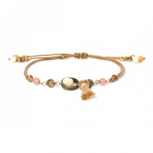 COMPLICES-NINA bracelet macramé pompon