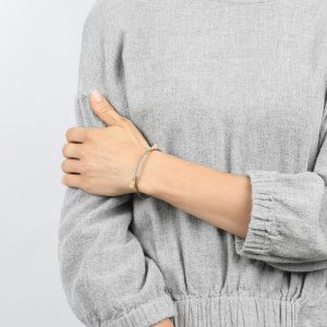 COMPLICES-NINA bracelet jonc rose pâle