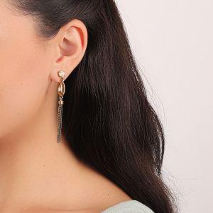 CAMILLE boucles d'oreilles chaines & caurie