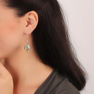 DANNIE boucles d'oreilles tube & chaine