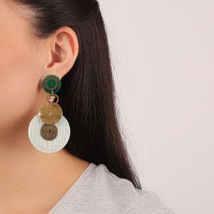 FLO boucles d'oreilles ronds grand modèle (vert)