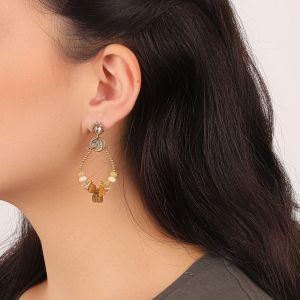 AMANDINE boucles d'oreilles mini plaque