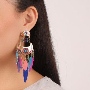 FLO boucles d'oreilles multipampilles (fushia)
