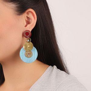 FLO boucles d'oreilles ronds grands modèles (fushia)