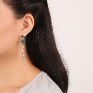 MELISSA boucles d'oreilles rond & pompon