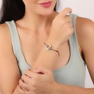 LAUREN bracelet anneau fermoir tube