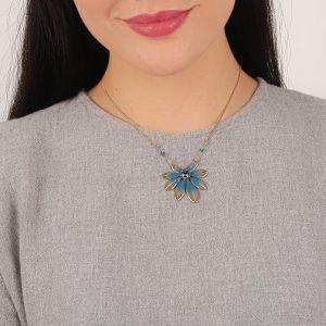 JULIETTE collier pendentif feuille
