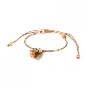 AMANDINE bracelet rigide fermoir tube