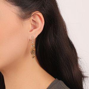 AMANDINE boucles d'oreilles mini strass