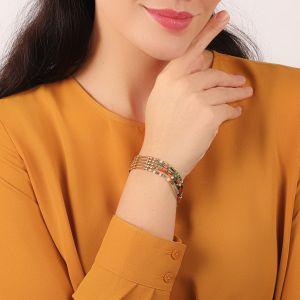 EMMA 5 rows stretch bracelet