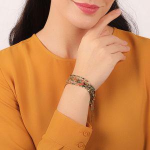 EMMA 7 rows stretch bracelet