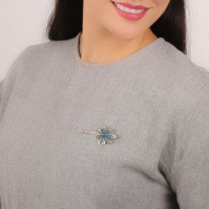JULIETTE medium leaf brooch pin