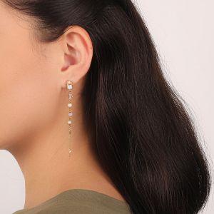 ISABELLE longues boucles d'oreilles chaines