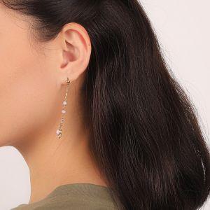 ISABELLE longues boucles d'oreilles strass