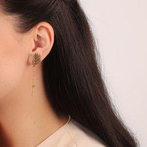 LEELOU boucles d'oreilles 2 chaines
