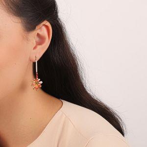 LISE boucles d'oreilles tige & feuille