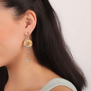 LAUREN longues boucles d'oreilles anneaux