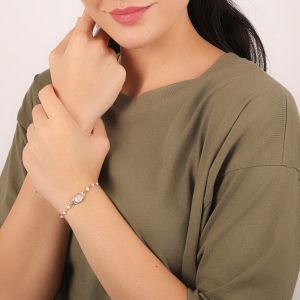 ISABELLE bracelet fin Nacre blanche