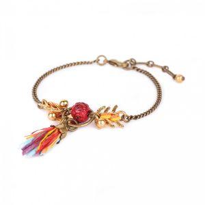 KORALIE bracelet chaine & pompon