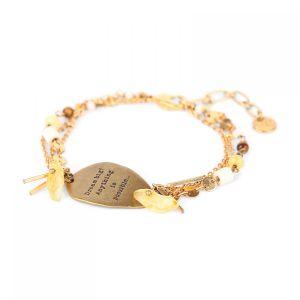 AMANDINE bracelet médaille et ses 3 chaines