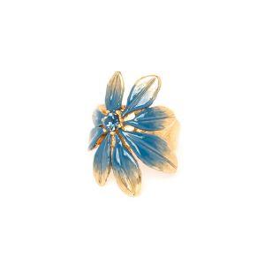 JULIETTE leaf ring(blue)