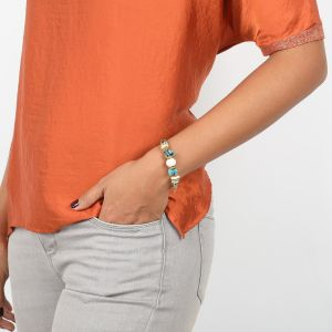 SOLENE bracelet extensible multi matières